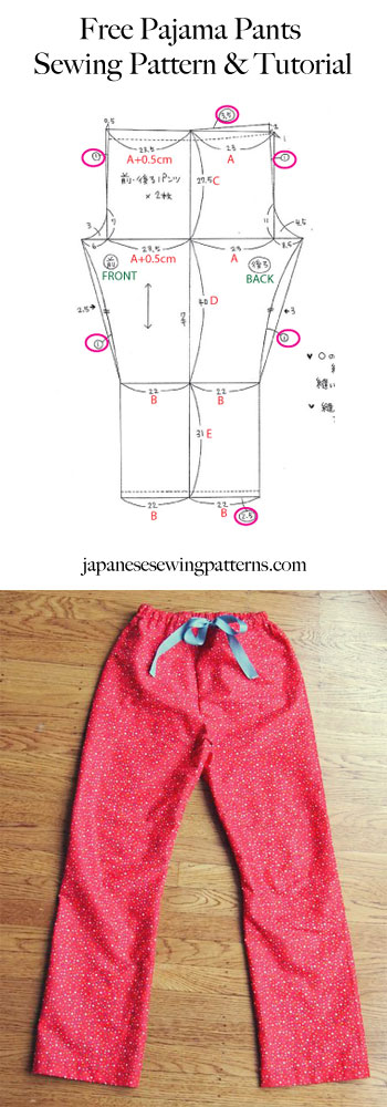Free pyjama pajama pants sewing pattern Pinterest