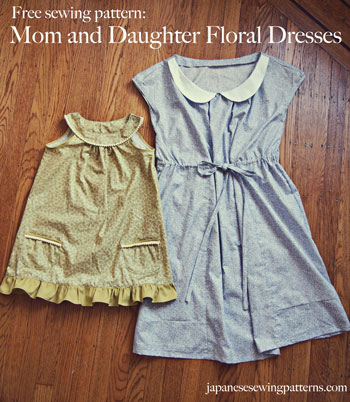 Free floral dress sewing pattern Pinterest
