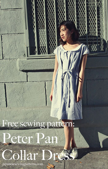 Free peter pan collar floral dress sewing pattern